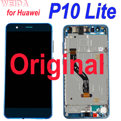 Original Lcd for Huawei P10 lite LCD Display Touch Screen Digitizer Assembly for P10Lite WAS-LX2J WAS-LX2 WAS-L03T WAS-LX3 Tool