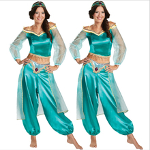 Halloween Costume Aladdin Magic Lamp Princess Jasmine Adult Cosplay