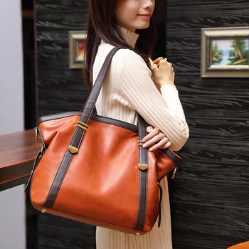 Women's Genuine Leather Handbag Ladies bags Large Leather Designer Big Tote Bags for Women 2020 Luxury Shoulder Bag Handbags nigedu genuine leather women handbags designer bucket bag for women messenger bags bolsas femininas ladies tote shoulder bags