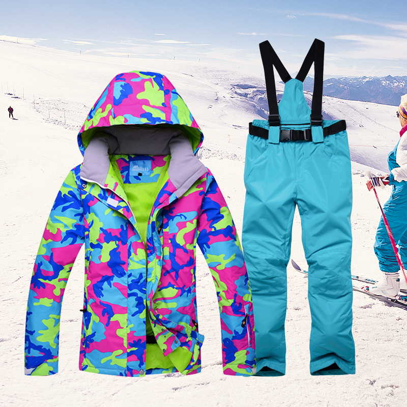Ski Suit For Women New Snowboard Jacket&Pants Sets Winter Sportswear Snow Women's Skiing Suits -30 Degrees Waterproof Breathable