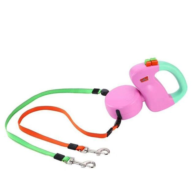 Automatic retractable traction rope ABS with two heads Creative dog leash dog chain pet supplies dog accessories