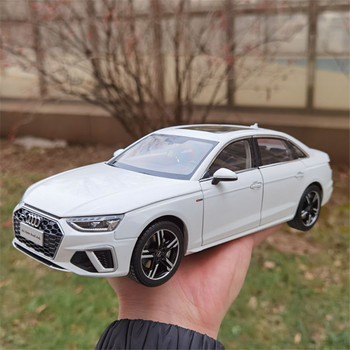 1/18 For Audi A4L A4 2020 Diecast Model CAR White/Gold/Gray Toys kids Boys girl gifts display Collection Metal,Plastic,Rubber image