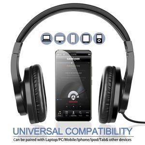 Image 4 - Oneodio T3 auriculares por encima de la oreja con cable, auriculares de graves estéreo con micrófono, auriculares ajustables para teléfono móvil