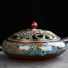 large Household Coil / Sticks / Cones Incense Burner Buddhist Incense India Sandalwood mosquito repellent incense Ceramic Censer