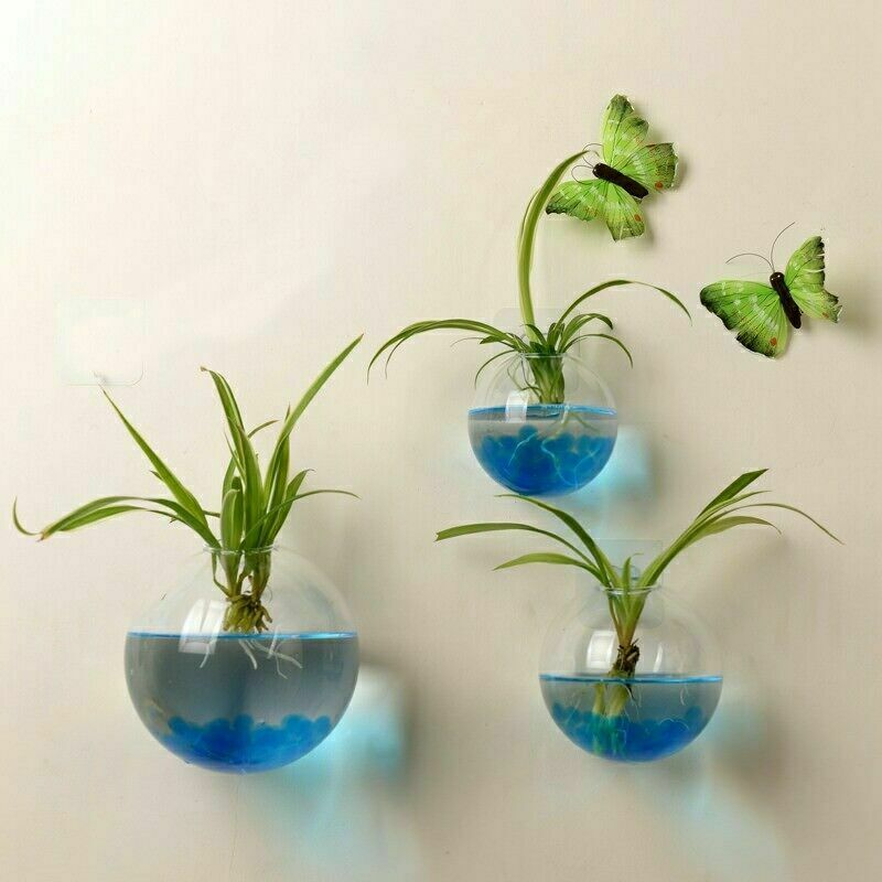 Garden Supplies Home Hanging Glass Ball Vase Flower Planter Pots Terrarium Fish Tank Aquarium Container Home Garden Decoration
