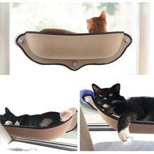Support hamac sur fenêtre pour chat, lit suspendu chaud, avec ventouses, maison de repos, fournitures pour chat, Cage en furet doux