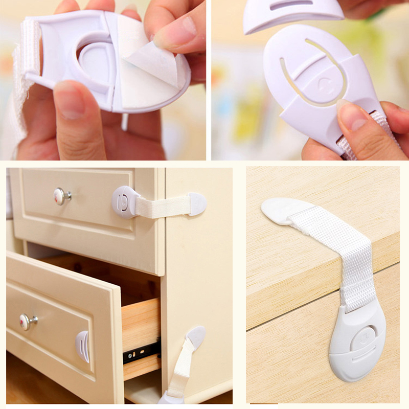 5Pcs Plastic Safety Locks Childproof Product Of Drawer Door Cabinet Cupboard Safety Latches Children Activity Security Care