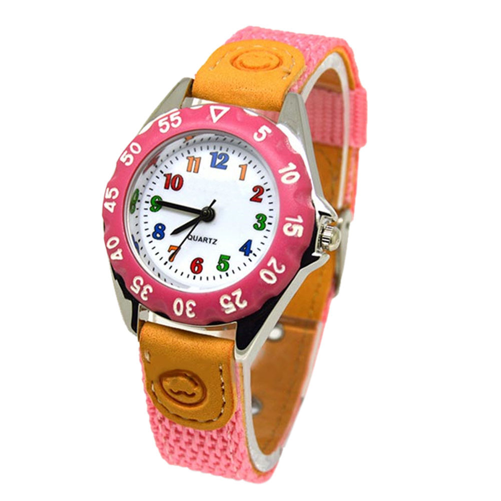 Cute Boys Girls Quartz Watch Kids Children's Fabric Strap Student Time Clock Wristwatch Gifts AUG889 enlarge