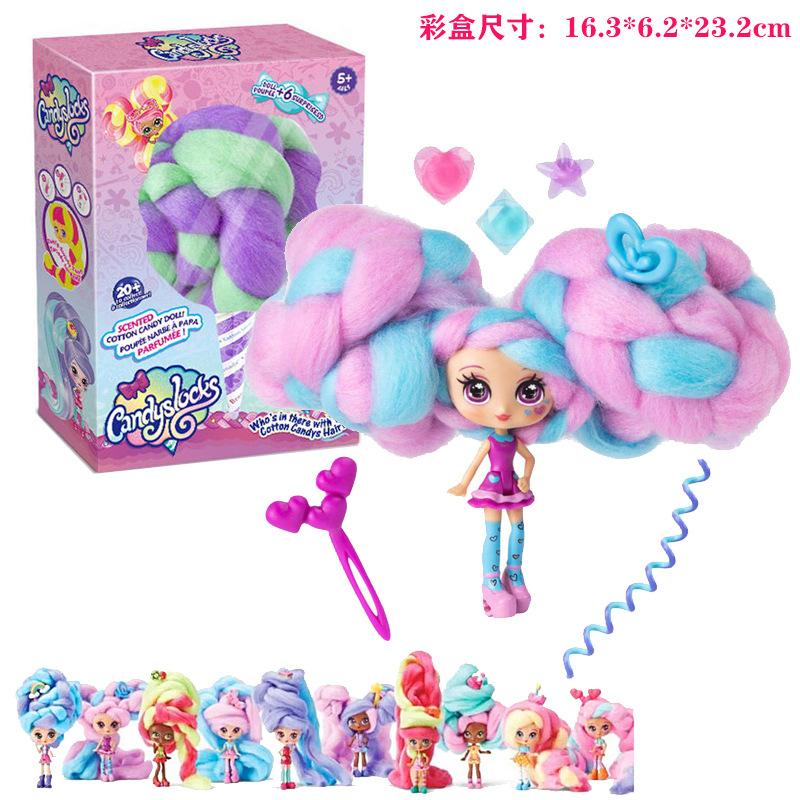 Reissue Candylocks Sweet Treat Hobbies Dolls Accessories Marshmallow Hair Surprise Hairstyle With Scented Doll Toys Style Random