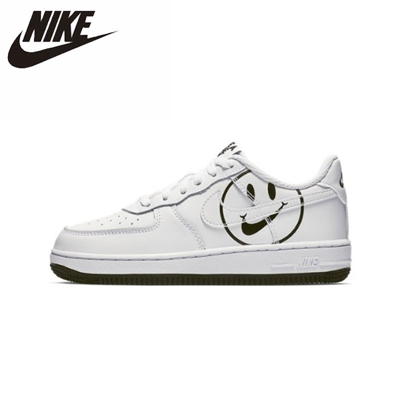 NIKE FORCE 1 Original Parent-child Skateboarding Shoes Gym Kids Shoes Comfortable Children Shoes Outdoor Sports Men Sneakers