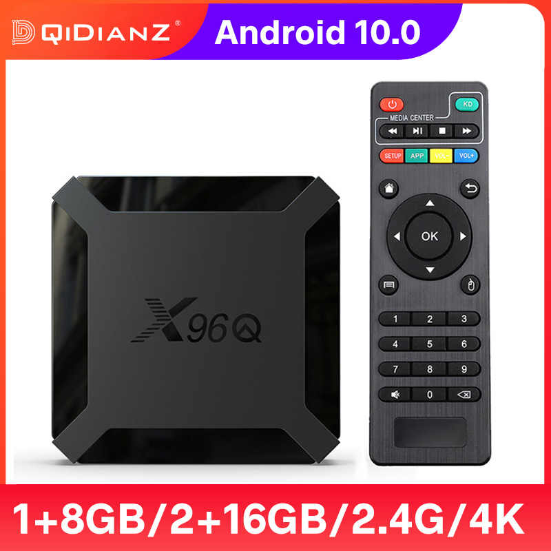 กล่องทีวีAndroid 10 X96Q 4K HDMI 2.0A 2.4G Wifi Allwinner H313 Quad Core 2GB 16GB media Player X96 Q Smart Set Top Box