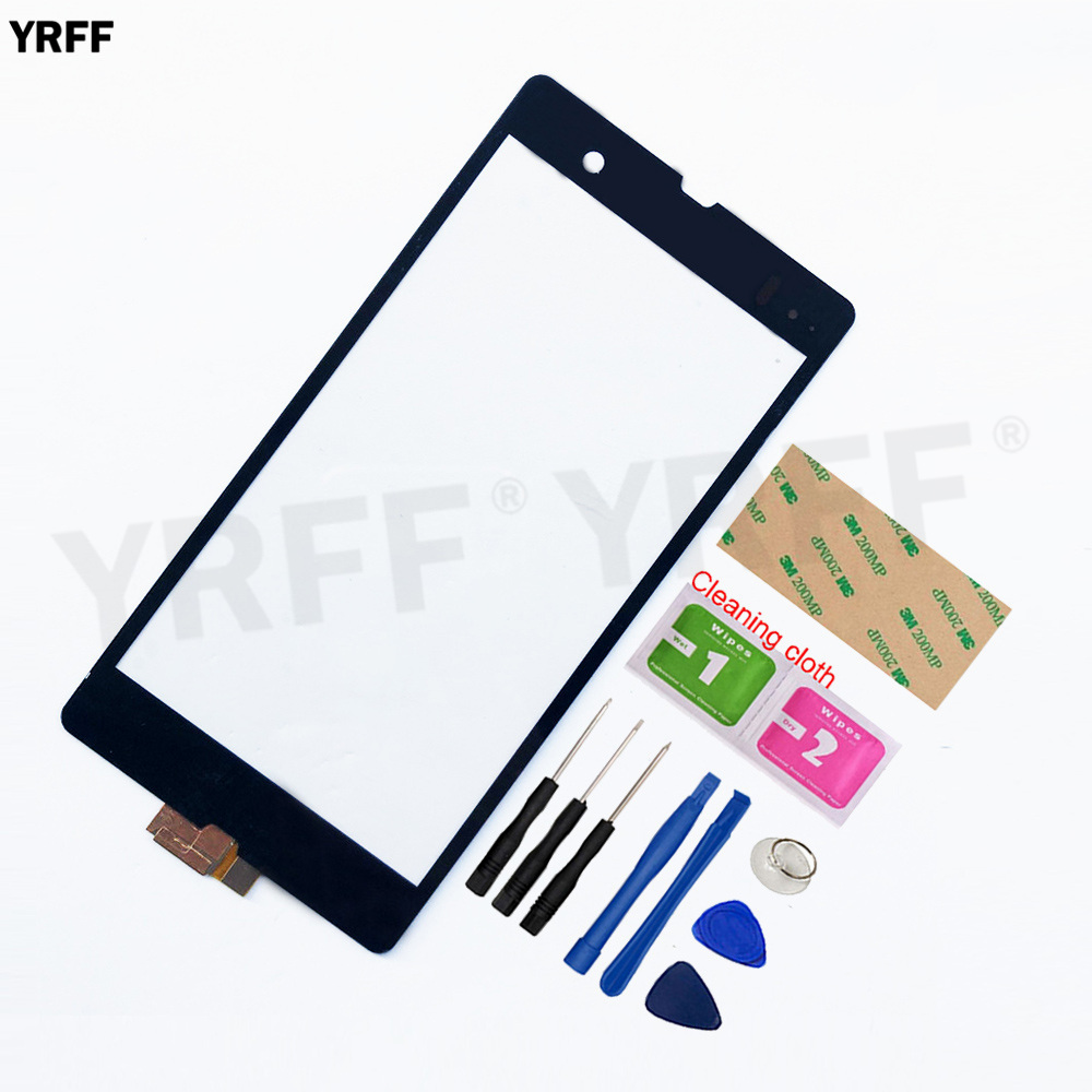 Touchscreen For <font><b>Sony</b></font> <font><b>Xperia</b></font> <font><b>Z</b></font> C6602 L36H <font><b>C6603</b></font> Touch <font><b>Screen</b></font> Digitizer r Sensor <font><b>Glass</b></font> Panel Assembly Replacement image