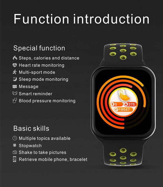 F8 Smart Watch Women Men Bracelet SmartWatch Blood Pressure Fitness Bracelet Tracker For IOS Pk iwo 8 B57 S226 Smart Watch Band