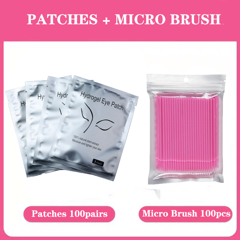 25/100 <font><b>pairs</b></font>/lot Eye hydrogel Patches for <font><b>Eyelash</b></font> Extension <font><b>Eyelash</b></font> Pads Silver Under Eye Non-woven Makeup All Building Lashes image