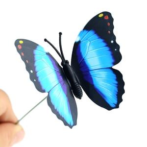Image 5 - 5 sztuk/partia 7*25cm motyle ogród stoczni sadzarka kolorowe kapryśny motyl Stakes dekoracja na zewnątrz doniczki dekoracji