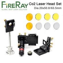 цена на Fireray CO2 Laser Head Focus Lens 20mm Reflective Mirror 25mm Integrative Mount Laser Engraving and Cutting Machine