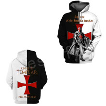 Tessffel Knight Templar cavalie Tracksuit casual unisex Harajuku fashion 3DPrint Hoodie/Sweatshirt/Jacket/shirts Men Women s-2