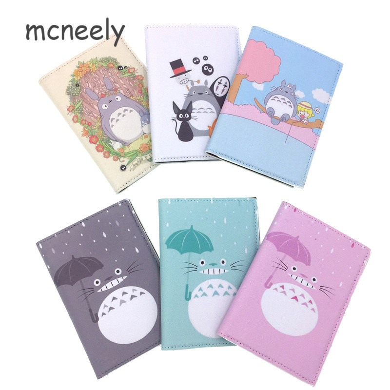 GIRL BOY Japan Cartoon Totoro Passport Holder Protect Cover Case Organizer Passport Case Women Man Business Card Holder Wallet