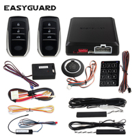 EASYGUARD PKE car alarm remote start keyless entry push start button touch password entry vibration alarm smart key system