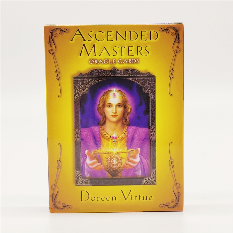 High Quality Paper Gold  Version Ascended Masters Oracle Cards TAROT Divine Prophecy Cards English Version