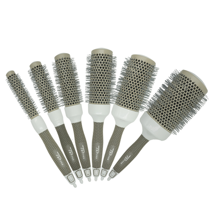 6 Size Hair Brush Hair High Temperature Ceramic Round Comb Hairdressing Salon Nano Brush Hot Ceramic Ion Styling Comb