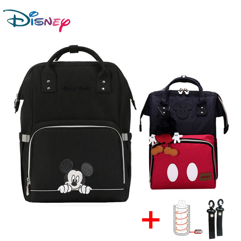 Disney Baby Diaper Backpack With Usb Fashion Mummy Maternity Nappy Bag Baby Diaper Bags Waterproof Large Capacity For Stroller