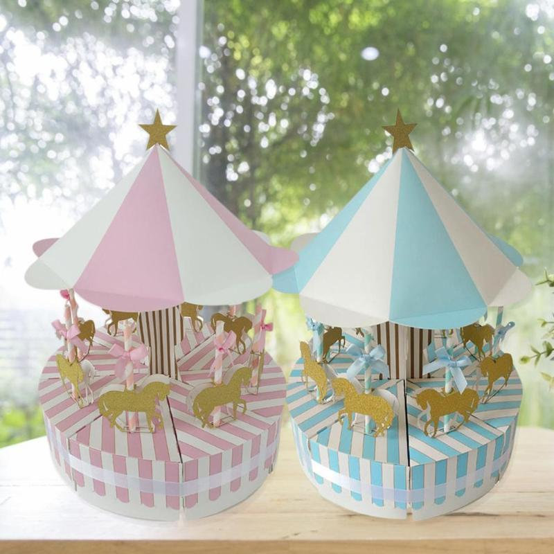 Romantic Carousel Candy Box Wedding Birthday Party Favors And Gifts Souvenir For Guest Party Gift Candy Box Wedding Decorations