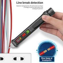 VD410A бесконтактный цифровой детектор напряжения переменного тока/постоянного тока 12В-1000В Измеритель индукции электрического ручка с фонариком