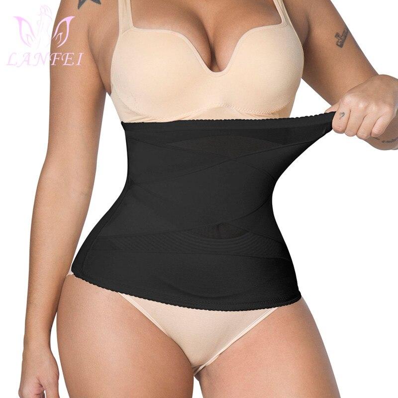 LANFEI-Cinturón de compresión para el vientre para mujer, faja sin costuras adelgazante para pérdida de peso, entrenador de cintura, corsé, ropa interior