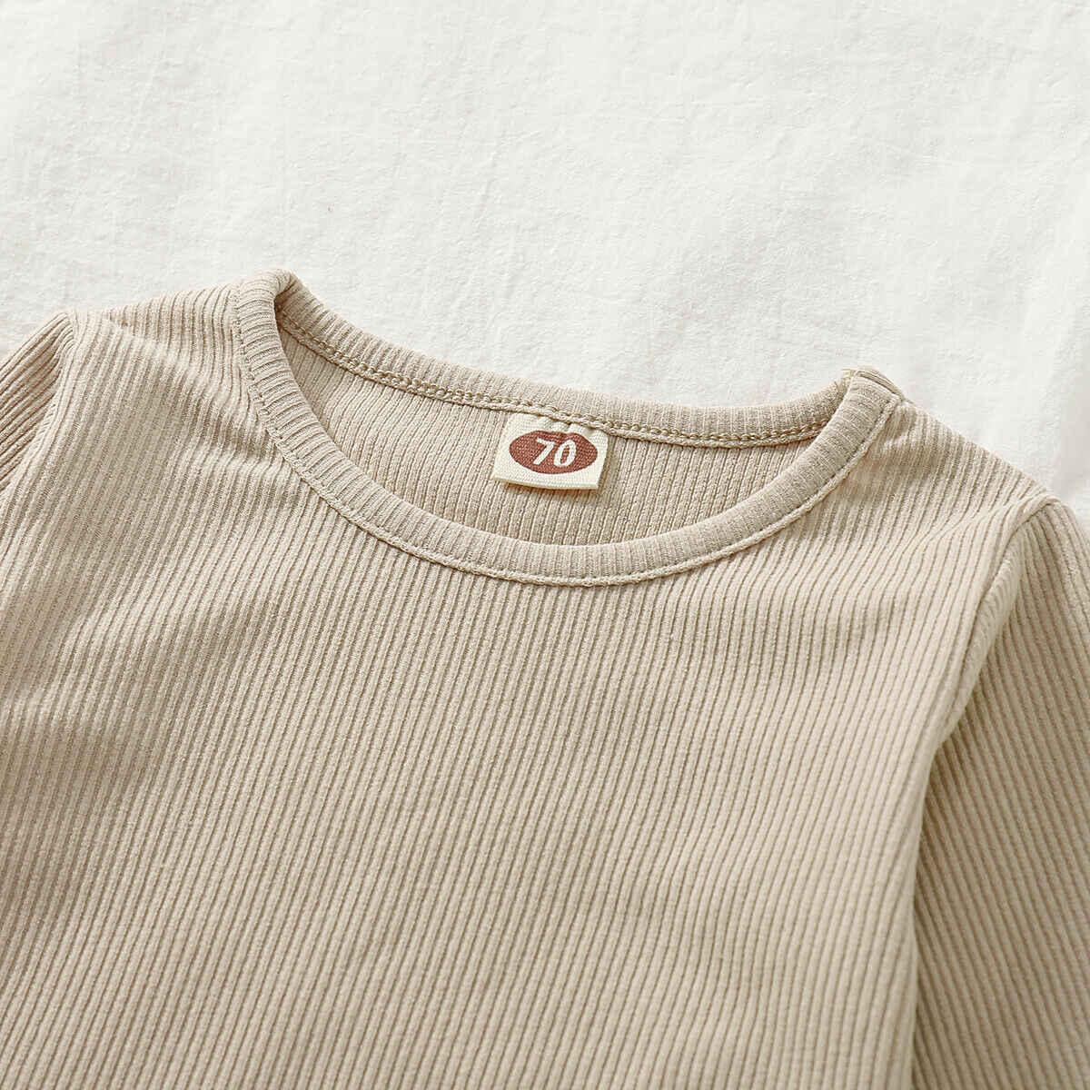 محبوك طفل الشتاء الخريف تي شيرت ملابس الأطفال البلوز البلوزات للطفل الفتيات الصبي طويلة الأكمام الصلبة سترة الملابس الدافئة