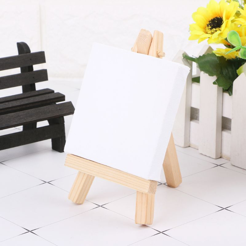 Natural Wood Mini Easel Frame Tripod Display Meeting Wedding Table Number Name Card Stand Display Holder Children Painting Craft