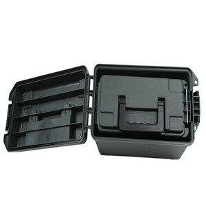 Caja de munición de plástico portátil caja de balas de almacenamiento de estilo militar maletín caja de herramientas de almacenamiento en seco ligero a prueba de humedad 6.5L