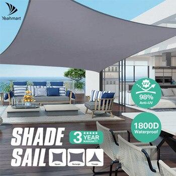 280GSM szary markizy żagiel przeciwsłoneczny tkaniny wodoodporna Oxford ogród plac/trójkąt parasolka 98% ochrona UV na zewnątrz baldachim