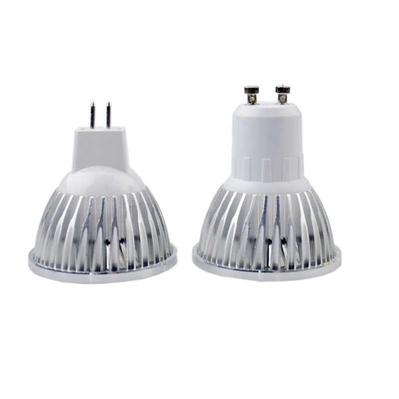 Lampa COB led wysokiej mocy GU10 85-265V 9W 12W 15W 18W ściemniana żarówka led MR16 COB ledowa żarówka reflektorowa 12V Downlight Bombillas