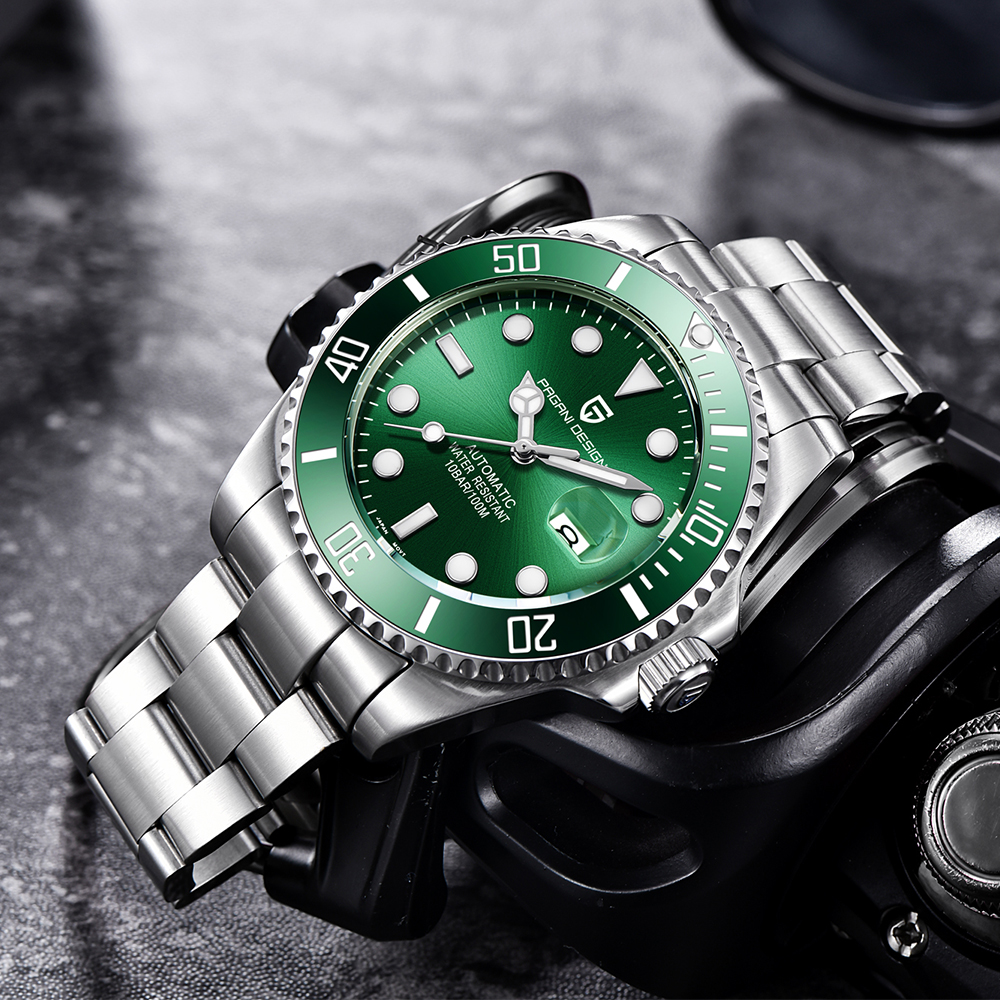 PAGANI Design Brand Luxury Men Watches Automatic Black Watch Men Stainless Steel Waterproof Business Sport Mechanical Wristwatch 5