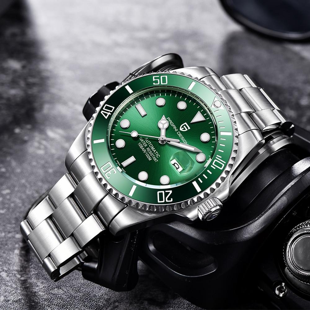PAGANI Design Marke Luxus Männer Uhren Automatische Schwarz Uhr Männer Edelstahl Wasserdicht Business Sport Mechanische Armbanduhr - 5