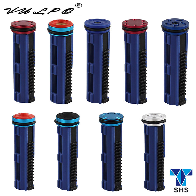 VULPO SHS High speed full steel teeth piston 14 teeth & piston head for Airsoft AEG Gearbox Ver 2/3 hunting accessories|aluminum piston|15 teeth pistonairsoft piston - title=