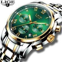 Relojes Hombre 2020 LIGE nowe zegarki mężczyźni luksusowej marki chronografu mężczyzna sporta zegarki wodoodporna stal nierdzewna zegarek kwarcowy mężczyzn
