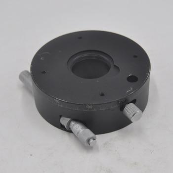 CHOU RS-911T manual optical precision transmission type rotary fine adjustment slide table aluminum alloy