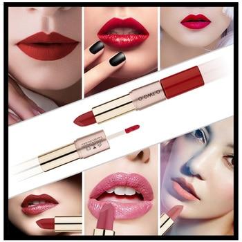 O.TW O.O Double tête 2 en 1 velours mat rouge à lèvres brillant à lèvres étanche TSLM1