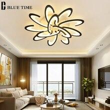 현대 Led 천장 조명 블랙 화이트 프레임 홈 천장 조명 거실 다이닝 룸 주방 침실 램프 조명기구