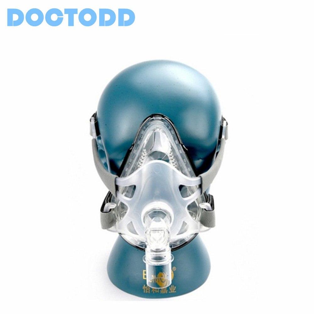 Doctodd F1A Volle Gesicht Maske für Alle Marken CPAP Auto CPAP BiPAP Maschinen Atemschutz Ventilator W/Kopfbedeckungen S M L Größen für Option