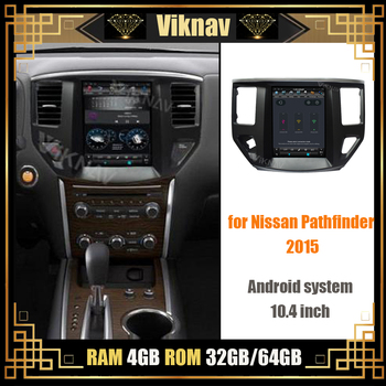 car radio multimedia player for Nissan Pathfinder 2015 DVD player GPS navigation vertical screen stereo video player FM BT 10.4' image