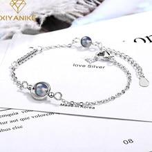 XIYANIKE de Plata de Ley 925 nueva moda planeta geométrica brazaletes hechos a mano para las mujeres creativa joyería ajustable