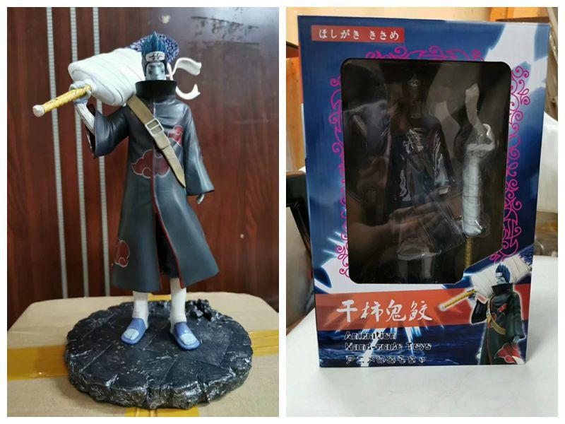 Novo 28cm Figura Anime Naruto Shippuden Figura De Acao Modelo Pvc Gk Akatsuki Hoshigaki Kisame Tubarao Poderia Cara Brinquedos Colecionaveis A Dupa Me