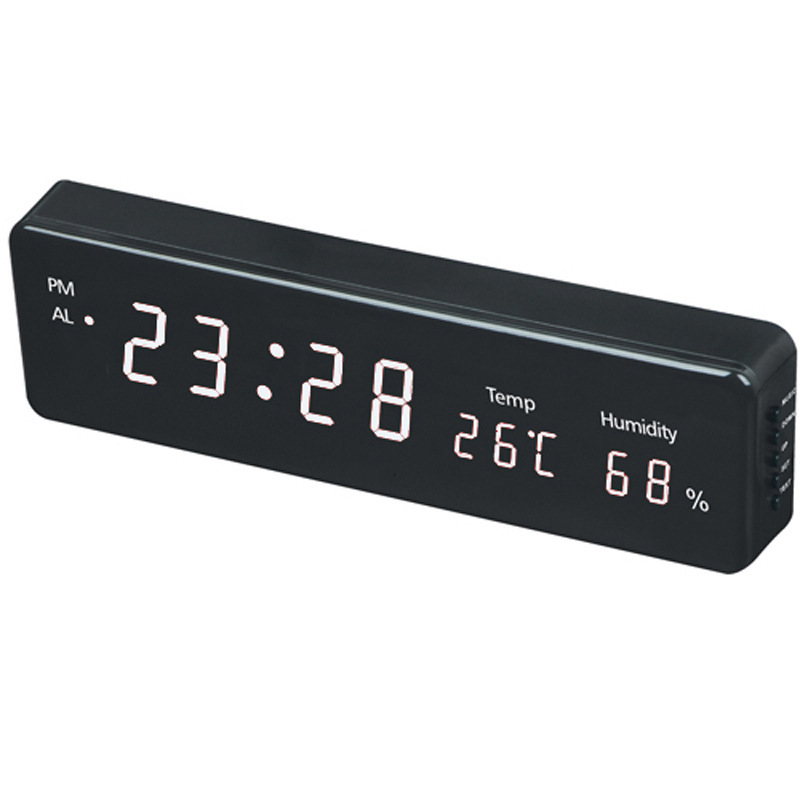 Multi-function electronic bedside table clock Large LCD Digital Big Number Wall Clock Desk alarm clock with Temperature Humidity