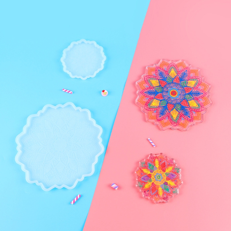 Подсолнечника Coaster силиконовая форма «сделай сам» ремесла чашка коврик слесарный с украшением в виде кристаллов эпоксидная смола, форма