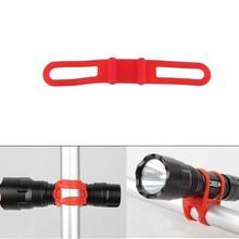 Эластичный бандаж, силиконовый ремешок, фонарь для горной дороги, велосипеда, фонарь, вспышка, светильник, полосы, велосипедный фонарь с креплением, держатель, высокогибкая повязка