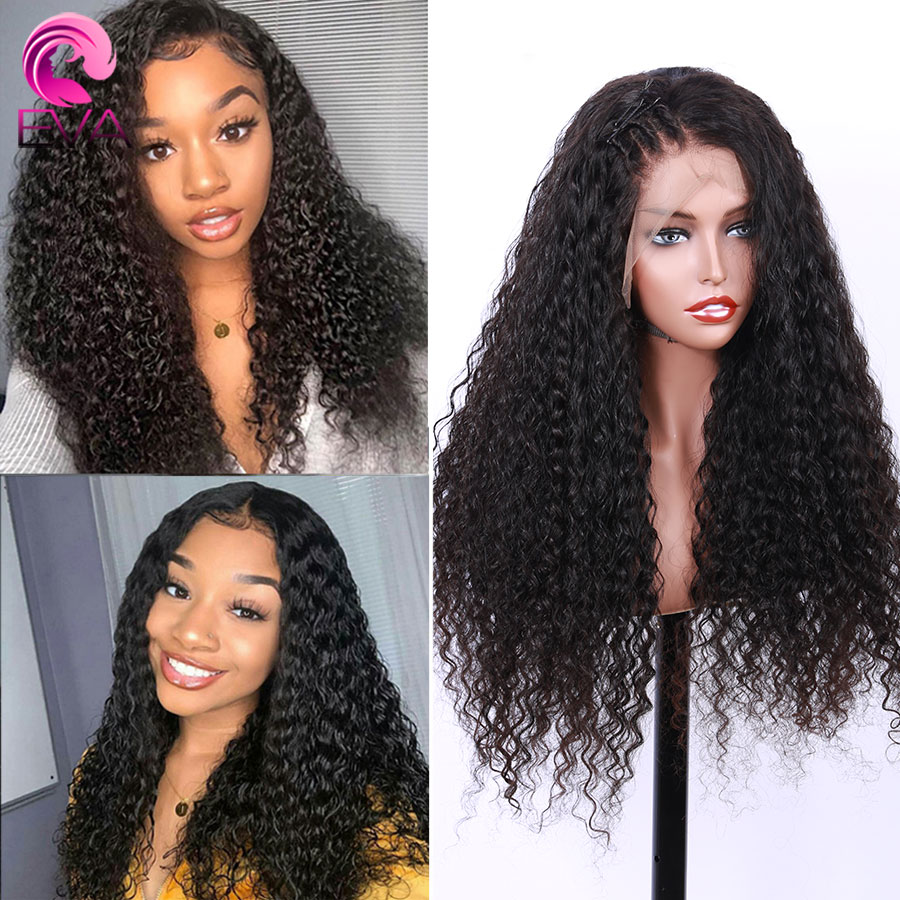 Eva 360 Lace Frontal Wigs Pre Plucked With Baby Hair Water Wave Brazilian Remy Human Hair Wigs Bleached Knots For Black Women