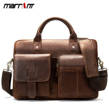 лучшая цена Europe and the United States retro men's shoulder bag large head leather men's briefcase real leather bags